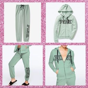 VSPINK Classic Pant & Full-zip Set
